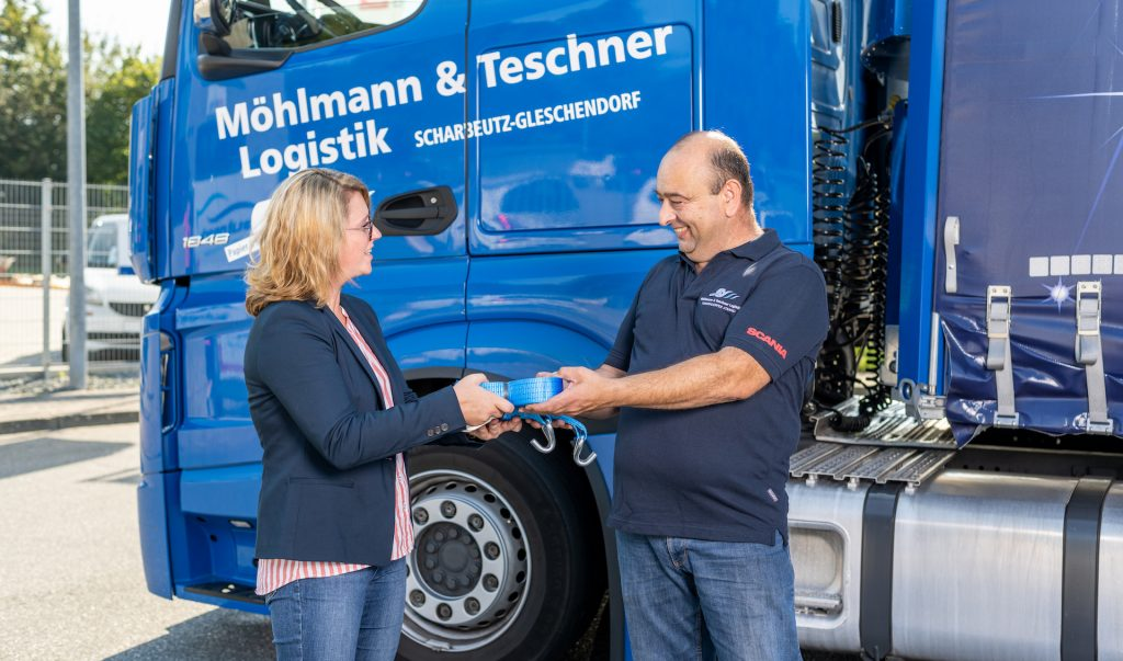 Ladungssicherung unserer LKWs